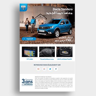 Automobile Dacia Campagne Emailing