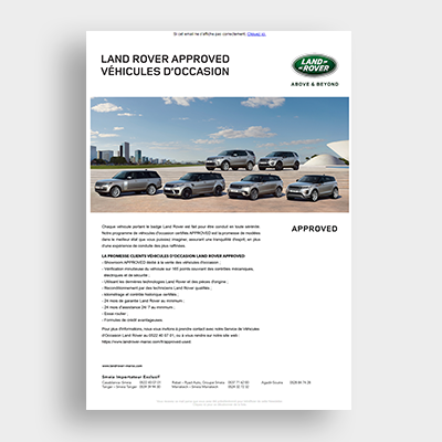 Automobile Land Rover Campagne Emailing