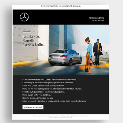 Automobile Mercedece Campagne Emailing