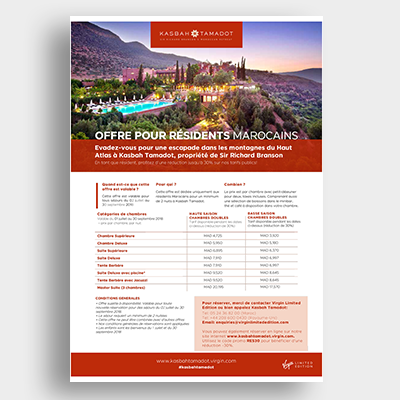 Hotel Kasbah Tamadot Campagne Emailing