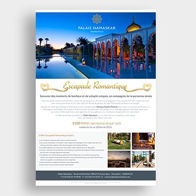 Hotel palais Namaskar Campagne Emailing