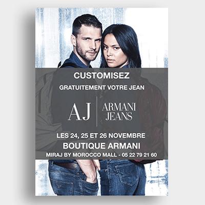 Prêt à porter Armani Jeans Campagne Emailing