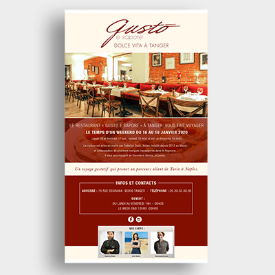Restaurant Gusto Campagne Emailing