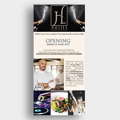 Restaurant Joleha Campagne Emailing