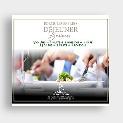 Restaurant La brasserie du boulevard Campagne Emailing
