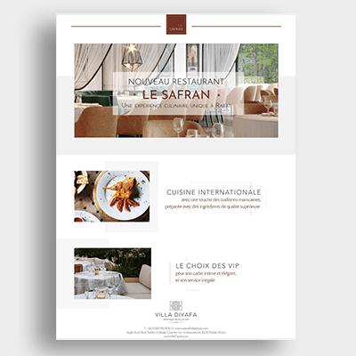 Restaurant Le Safran Campagne Emailing