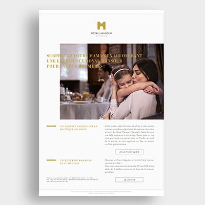 Royal Mansour Hotel campagne, Emailing Marketing, Casablanca, Emailing Maroc