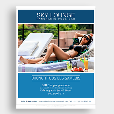 Sky Lounge Hotel campagne, Emailing Marketing, Casablanca, Emailing Maroc