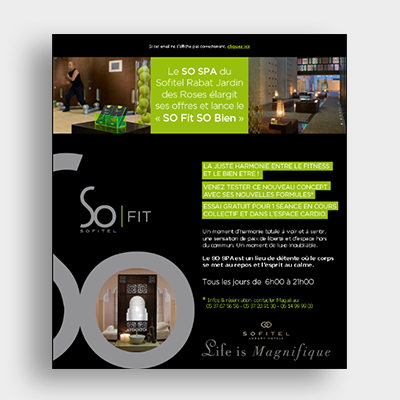 Sofitel Hotel campagne, Emailing Marketing, Casablanca, Emailing Maroc